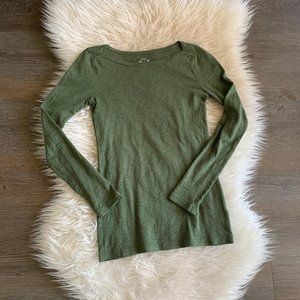 J. Crew Boatneck Painter Tee in Forest Green